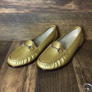 SAS Tripad Gold Leather Loafer Women's Sz 9W